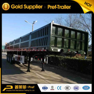 Hot Sale 3 Axles Side Wall Cargo Truck Trailer for Sale