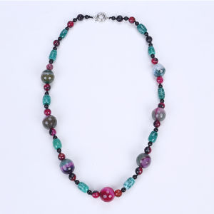 Newest Colorful Necklace Dyed Agate pictures & photos