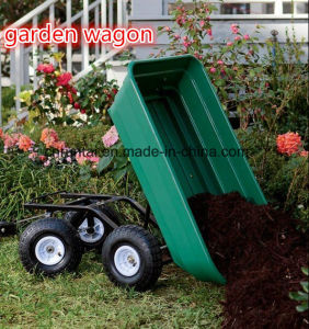 Heavy Duty Four Wheels Garden Trailer Tool Cart pictures & photos