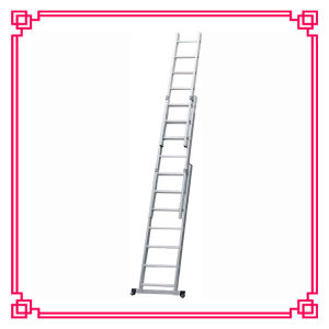 3 Section Aluminum Extension Ladder / Combination Ladder pictures & photos