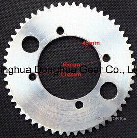 55 Teeth 4PC Bolt Sprocket for 8mm Chain Mini Bikes Rear Sprocket pictures & photos