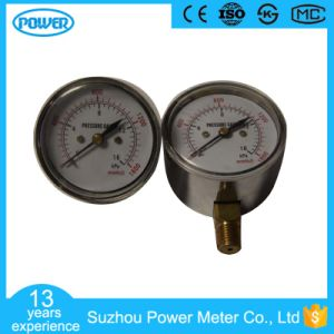 2.5′′ 63mm Bottom Connection Stainless Steel Capsule Pressure Gauge pictures & photos