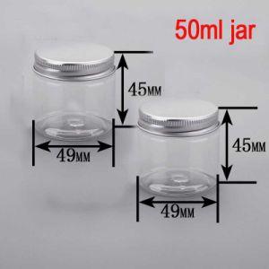 50ml Round Facial/Body Cream/Care Alu Cap Clear Plastic Pet Jar pictures & photos