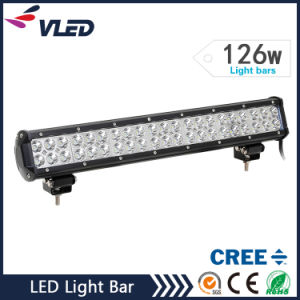 "20"" 126W 10080lm 12V LED Car Light Bar for Truck Offroad Driving Lightbar pictures & photos"