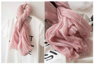 Wholesale Fashion Plaid Women Cotton Shawls Scarf Pashmina