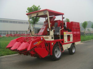 Combine Wheel Type Corn Harvester Machine pictures & photos