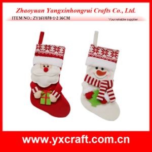Christmas Decoration (ZY14Y302-1-2-3) Christmas Gift Stocking Handmade Sock Item Product pictures & photos