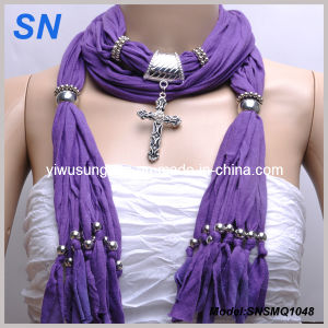 2014 Top Fashion Cross Pendant Scarf pictures & photos