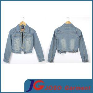 Factory Wholesale Women′s Denim Short Jacket (JC4018) pictures & photos