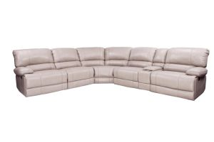 Living Room Furnituremotion Recliner Corner Air Leather Sofa with Cupholder pictures & photos