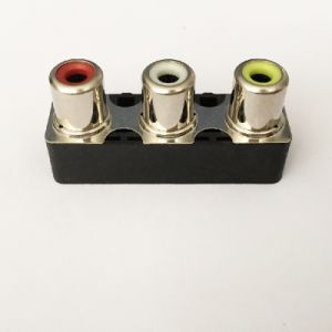 AV Socket with The Core Lotus Single-Hole RCA Socket Audio and Video Terminals AV3-8.4-20b pictures & photos