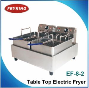 Commercial Electric Double Flat Chicken Fryer pictures & photos