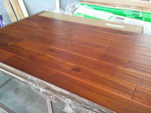 Big Leaf Acacia Flooring Solid Hardwood Flooring Coffee Color