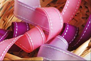 Factory Double Stitched Grosgrain Ribbon pictures & photos