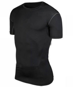 Men′s Tights Short Sleeves Sport T-Shirt Dress