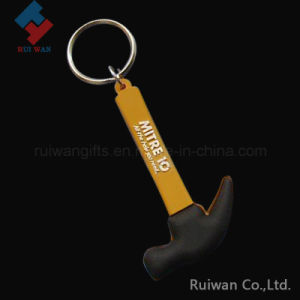 Promotional Hammer Shaped Rubber PVC Keychain pictures & photos