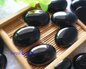 Jewelry Parts-Natural Black Onyx Cabochon pictures & photos