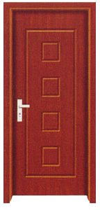 Interior Wooden PVC Door for Rooms or Bathroom (TGPVC-022)