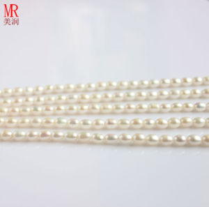 6-7mm White Rice Shape Freshwater Pearl Strands pictures & photos