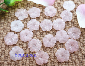 Jewelry Parts-Natural Rose Quartz Carved Flower pictures & photos
