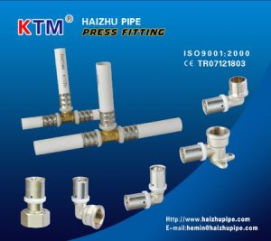 Brass Press Fitting - Wall-Plated Female Double Elbow pictures & photos