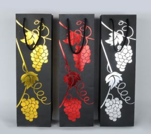 Luxury Custom Paper Wine Bottle Gift Bag pictures & photos