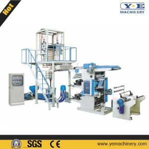 PE Film Blowing Machine with Two Color Flexo Printing Unit (SJ-YT) pictures & photos