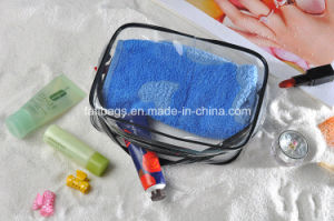 Clear PVC Gift Cosmetic Package Plastic Bag with 3piece Per Set pictures & photos