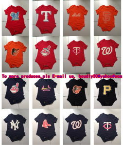 Hot Selling Brand New Newborn Infant Baseball Jersey Creeper, Free Shipping