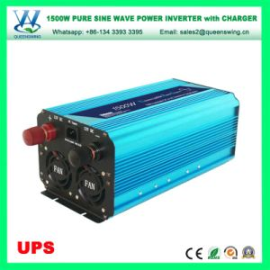 12/24V UPS Pure Sine Wave 1500W Solar Power Inverter with 15A Charger (QW-P1500UPS) pictures & photos