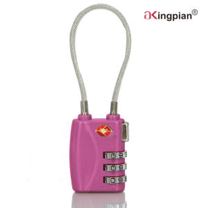 Tsa Luggage Digital Combination Code Padlock with Cable pictures & photos