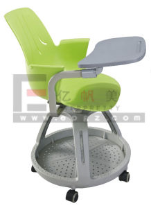 Factory Customized Office PP Chair with Writing Pad pictures & photos