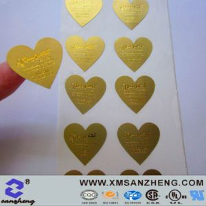 Semi Glossy High Temperature Resistant Clear Sticky Chocolate Packaging Stickers pictures & photos