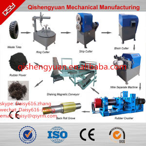 Rubber Tyre Crumbs Crusher/Rubber Floor Tile Making Materials pictures & photos