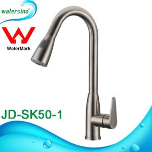 Watermark Approvalblack Kitchen Faucet Sink Tap with Pin Handle pictures & photos