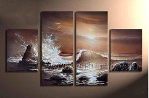 Home Decroation Sea Waves Oil Painting on Canvas (SE-195) pictures & photos