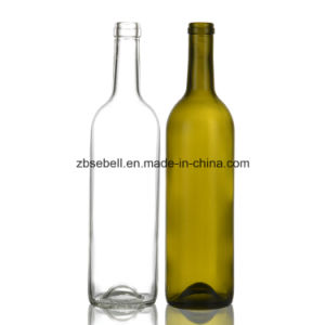 750ml Bordeaux Cork Top Wine Bottle pictures & photos