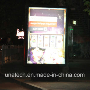 Outdoor Advertising Aluminium Frame Metal Base Stand Pole Rotating LED Light Box Billboard pictures & photos