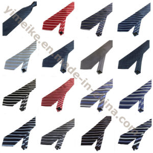 New Arrival Formal Business Edition Polyester Silk Striped Ties for Men pictures & photos