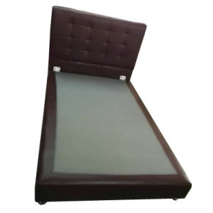 Modern Leather Bed, Simple Bed (6027) pictures & photos