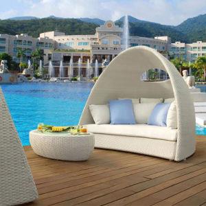 Bird′s Nest Sofa Sunshine Lounge Beach Circular Dome; Garden Furniture Rattan Sunbed (T586) pictures & photos