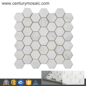 "2 ""Wholesales Century Hot Sale White Marble Hexagon Mosaic Tiles"