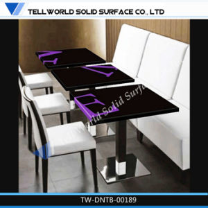 Modern Heat Selling Solid Surface Top Stainless Steel Base Modern Dining Table pictures & photos