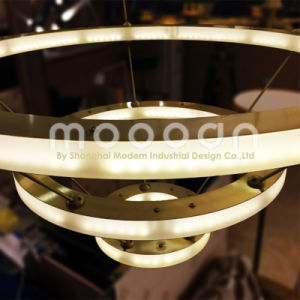 Modern Hanging Gold Big Art Deco Copper Brass Circle LED Ring Light Chandelier pictures & photos