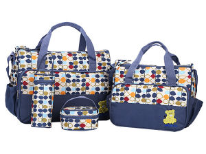 5 in 1 Mommy Multifunction Baby Diaper Nappy Bag Mommy Tote Bag 2024D pictures & photos
