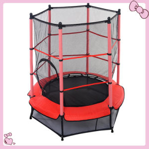 High Quality Round Red Trampoline Trampoline with Safety Net pictures & photos