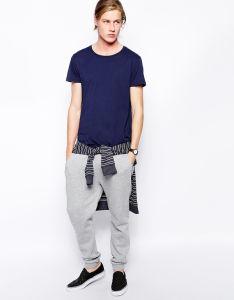 Factory Price Wholesale Men′s Blue T Shirt pictures & photos
