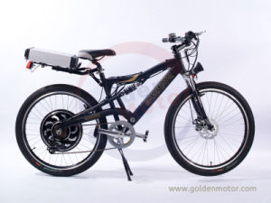 Dual-Drive 48V 1500W Electric Bicycle /7 Speed Mountain Bike/Electric Transportation (SEB-350D) pictures & photos