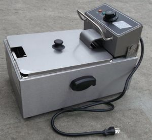 6L Commercial Electric Single Tank Flat Chicken Fryer pictures & photos