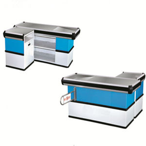 Supermarket Stainless Steel Cashier Table for Sale pictures & photos
